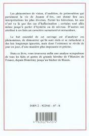 Jeanne d'arc-medium - 4ème de couverture - Format classique