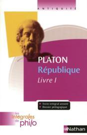 Platon ; république livre I - Couverture - Format classique