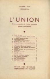 L'union, revue mensuelle du clergé paroissial, 75e année, n°647, décembre - Couverture - Format classique