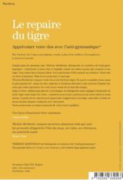Le Repaire Du Tigre, Apprivoiser Votre Dos Avec L'Anti-Gymnastique Edition De Lu - 4ème de couverture - Format classique
