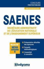 telecharger SAENES, secretaire administratif de l'Education nationale et de l'enseignement superieur livre PDF/ePUB en ligne gratuit