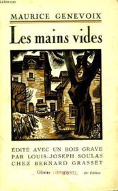 Les Mains Vides. - Couverture - Format classique