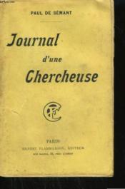 Journal D'Une Chercheuse. - Couverture - Format classique