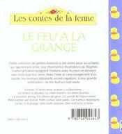 Le Feu A La Grange - 4ème de couverture - Format classique