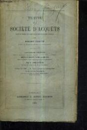 Traite De La Societe D'Acquets Suivant Les Principes De L'Ancienne Jurisprudence Du Parlement De Bordeaux. - Couverture - Format classique