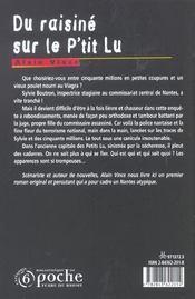 Du raisine sur le p'tit lu - 4ème de couverture - Format classique