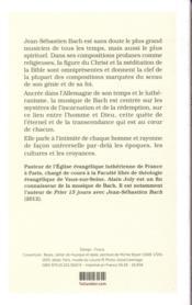 Bach, maître spirituel - 4ème de couverture - Format classique