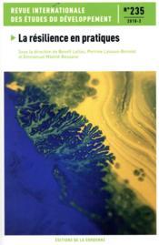 Revue internationale des études du développement ; la résilience en pratiques - Couverture - Format classique