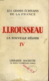 LA NOUVELLE HELOISE, TOME IV (Les Grands Ecrivains de la France) - Couverture - Format classique