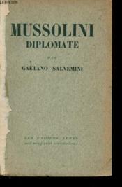 Mussolini diplomate - Couverture - Format classique