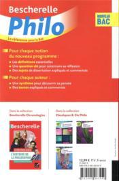 Bescherelle ; philosophie ; terminale (édition 2020/2021) - 4ème de couverture - Format classique