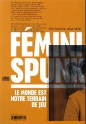 FéminiSpunk ; le monde est notre terrain de jeu - 4ème de couverture - Format classique