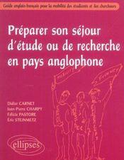 Preparer Son Sejour D'Etude Ou De Recherche En Pays Anglophone Guide Anglais-Francais Pour Mobilite - Intérieur - Format classique