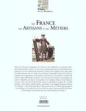 France Des Artisans Et Des Metiers (La) - 4ème de couverture - Format classique