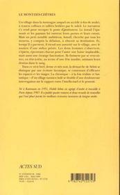 Le mont-des-chèvres - 4ème de couverture - Format classique