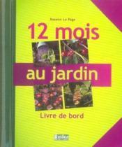 12 mois au jardin ; livre de bord - Couverture - Format classique
