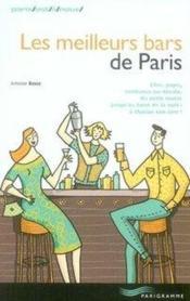 Les meilleurs bars de paris - Couverture - Format classique