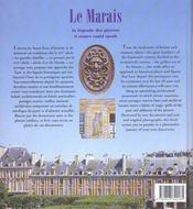 Le marais la Bastille - 4ème de couverture - Format classique