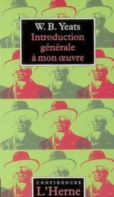 Introduction generale a mon oeuvre - Couverture - Format classique