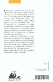 La vigne des morts sur le col des dieux décharnés - 4ème de couverture - Format classique