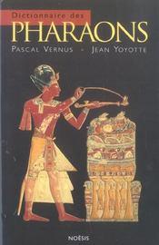 Dictionnaire Des Pharaons - Intérieur - Format classique