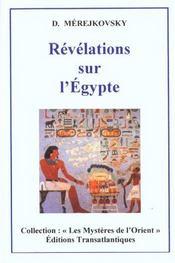 Revelations sur l'egypte - Intérieur - Format classique