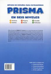 Prisma a1 comienza libro de ejercicios - 4ème de couverture - Format classique