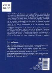 Droit de la franchise - 4ème de couverture - Format classique