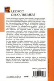 Droit des outre-mers (2e édition) - 4ème de couverture - Format classique