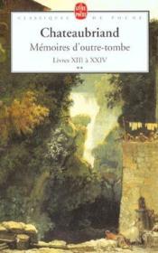 Mémoires d'outre-tombe t.2 - Couverture - Format classique