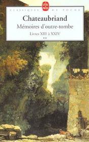 Mémoires d'outre-tombe t.2 - Intérieur - Format classique