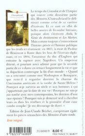 Mémoires d'outre-tombe t.2 - 4ème de couverture - Format classique
