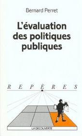 L'evaluation des politiques publiques - Intérieur - Format classique