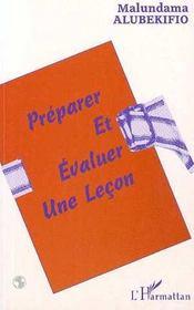 Preparer Et Evaluer Une Lecon - Intérieur - Format classique
