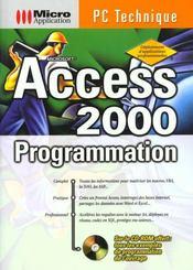 Pc technique access 2000 progr - Intérieur - Format classique