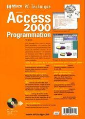 Pc technique access 2000 progr - 4ème de couverture - Format classique