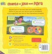 Chante et joue avec Dora - 4ème de couverture - Format classique