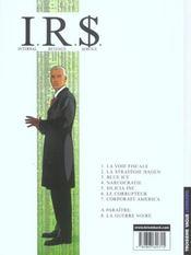 I.R.$ t.7 ; corporate america - 4ème de couverture - Format classique