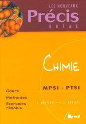 Chimie mpsi, ptsi - Intérieur - Format classique