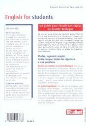 English for students ; réussir son séjour en Grande-Bretagne - 4ème de couverture - Format classique
