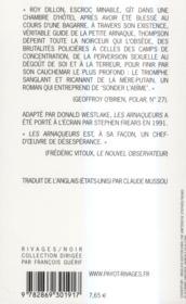 Les arnaqueurs - 4ème de couverture - Format classique