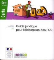 Guide juridique pour l'élaboration des PDU - Couverture - Format classique