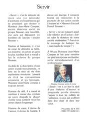 Servir ; ma vie au service de l'homme ; en hommage à monsieur Marcel Boussac - 4ème de couverture - Format classique