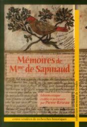 Mémoires de Mme Sapinaud - Couverture - Format classique
