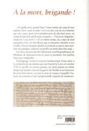 Mémoires de Mme Sapinaud - 4ème de couverture - Format classique