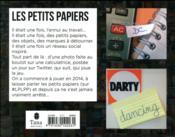 Les petits papiers - 4ème de couverture - Format classique