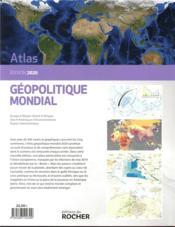 Atlas géopolitique mondial (édition 2020) - 4ème de couverture - Format classique