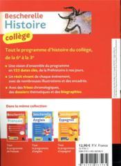 Bescherelle ; histoire ; collège - 4ème de couverture - Format classique