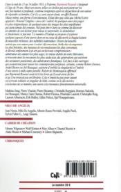 Revue Europe N.1104 ; avril 2021 ; Raymond Roussel - 4ème de couverture - Format classique