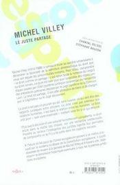 Michel villey, le juste partage - 4ème de couverture - Format classique